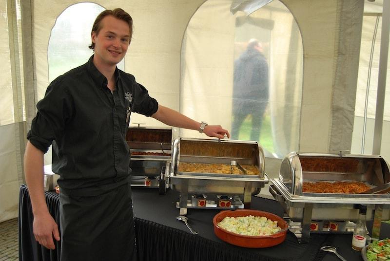 foto bij warme buffet